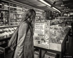 Girl At  Record Store by OllieWie