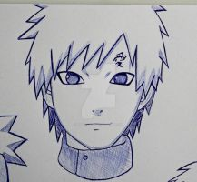 Gaara sketch by ViivaVanity