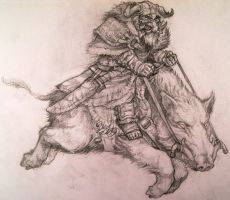 Boar Rider sketch by Azurenex