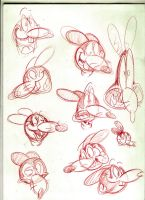 Mortimer Mouse head sketches by Themrock