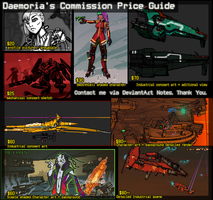Comission Price Sheet by Daemoria