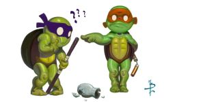 TMNT DONNY AND MIKE by FUNKYMONKEY1945