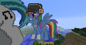 Minecraft - Rainbow Dash Scout by TillsterRulz