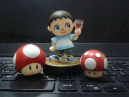 Custom Villager alt costume amiibo by Gregarlink10