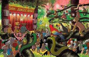 Sam and the Jungle Band pages 41 and 42 by DanDougherty