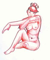 Anatomy Classes: Red Girl by nicneven