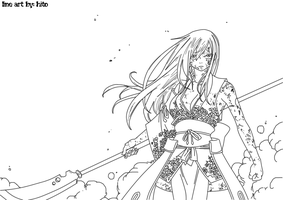 Erza Line Art Chapter 154 by Hitotsumami