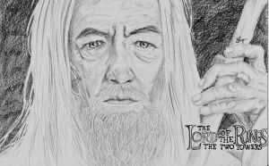 Gandalf the White by Fantaasiatoidab