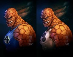 Ben Grimm - Fantastic Four and Future Foundation by gregscottbailey