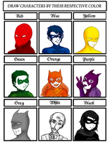 Color meme. Batfamily by AliNavGo