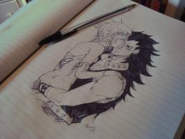 gajeel and levy by CarrotCakeBandit