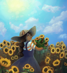 Collab: Sunflower Field by the-b3ing