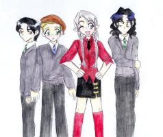 MH brat pack as first years by fatal-rob0t