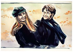 James and Lily Potter. by TioUsui
