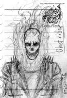 ghostrider sketch by dragonsheart87