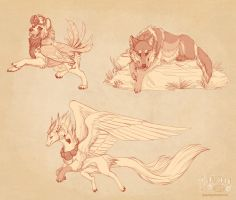 Sketch Set One by Plaguedog