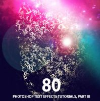 80 Best Photoshop Text Effects Tutorials, Part III by Designslots