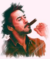 Robert Downey Jr. and cigar by Thubakabra