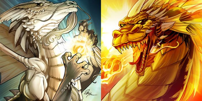 Dueling Dragons by TyRomsa