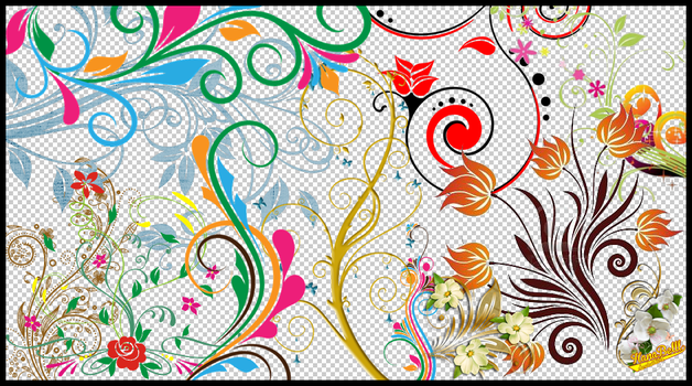Flowers Vector PNG by HanaBell1