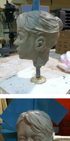 Self Portrait Bust clay original by BlairOntheWing