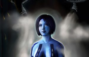 Halo 4 Cortana Background Small by PriceJames