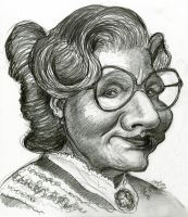 Robin Williams as Mrs. Doubtfire by Caricature80