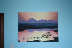 Sunset on the Mournes by Smyf