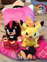 Shadow and Pikachu Plush by OceanMelodyUnicorn