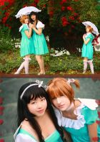 Sakura and Tomoyo cosplay by Shiya