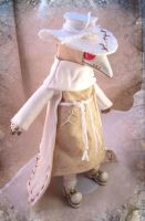 Albino Plague Doctor Doll by bezzalair