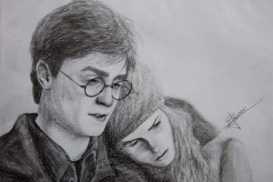 harry and hermione by isabelicious