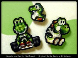 Yoshi Magnets by souldreamx