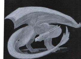 White Charcoal Dragon 2 by wolfie131