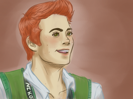 Dylan O'Brien As Jimmy Olsen by IamHEZMONSTER