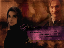 Tonks Remus kiss wallp by Remus87