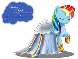 Gala Fashion 2013 - Rainbow Dash by selinmarsou