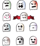 Cute Ghosts PNG pack by Meli-J-Nightly