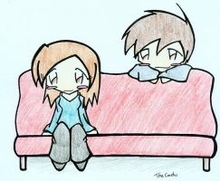 A Couch v. Colored Pencils? by Mioku