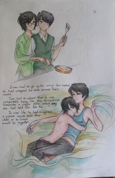 Tom M.Riddle and Evan James by FoxyAtTheCorner