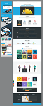 Maximus - One Page Flat Design Template by Nas-wd