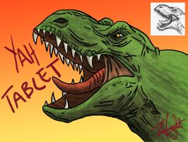 T-Rex - Tablet Practice by haha-tommy