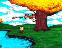 Calvin and Hobbes by Scipioblack