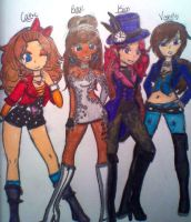 Party Time outfit drawing :3 by BebeKimichi