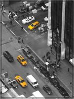 yellow caps, New York by sycore