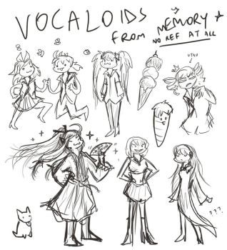 Vocaloids from memory by garudaestatem