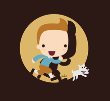 Tintin and Milou by StepPuki