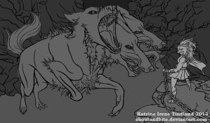 Cerberus Outline Free Download by KatrineTindlund