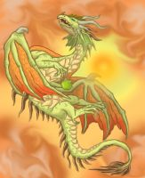 green sky dragon by Ashley8977