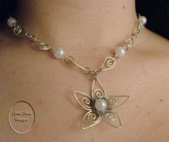 Filigree Flower Necklace by ajazzydancer